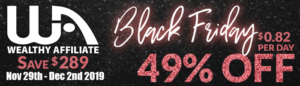 wealthy affiliate black friday 2019 sale